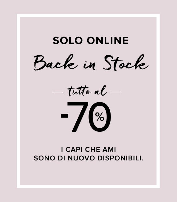 Last call Spring/Summer collection: tutto al -70%