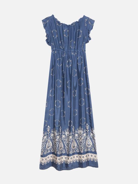 99a1a30732e0 ... Motivi  Vestito lungo fantasia paisley Blu 1