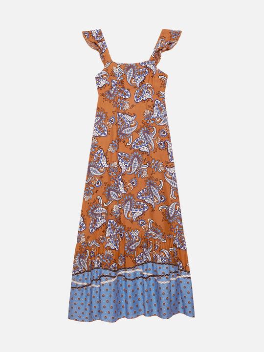 608822f70c10 Motivi: Vestito lungo fantasia cachemire Arancione_1 Motivi: Vestito lungo  fantasia cachemire Arancione_1
