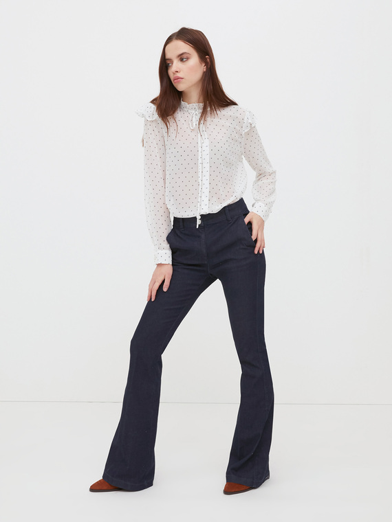 Motivi Jeans flare modello Elle Donna Blu