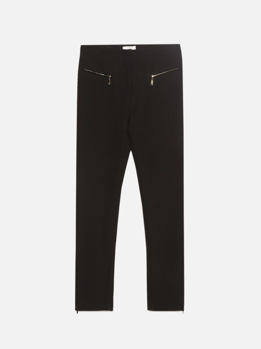 f527ee58f6b6e3 ... Motivi: Pantaloni skinny con zip Nero_1
