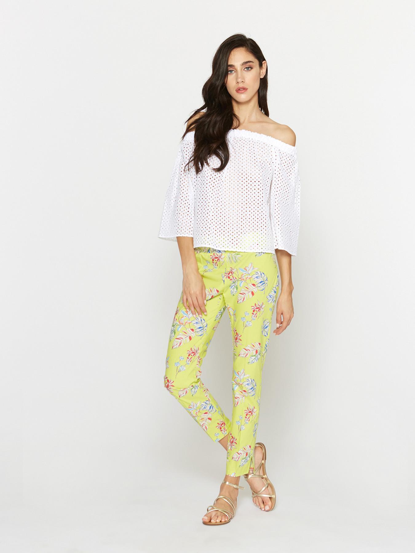 in vendita 1b8b8 0dd70 Pantaloni floreali in cotone - Motivi.com