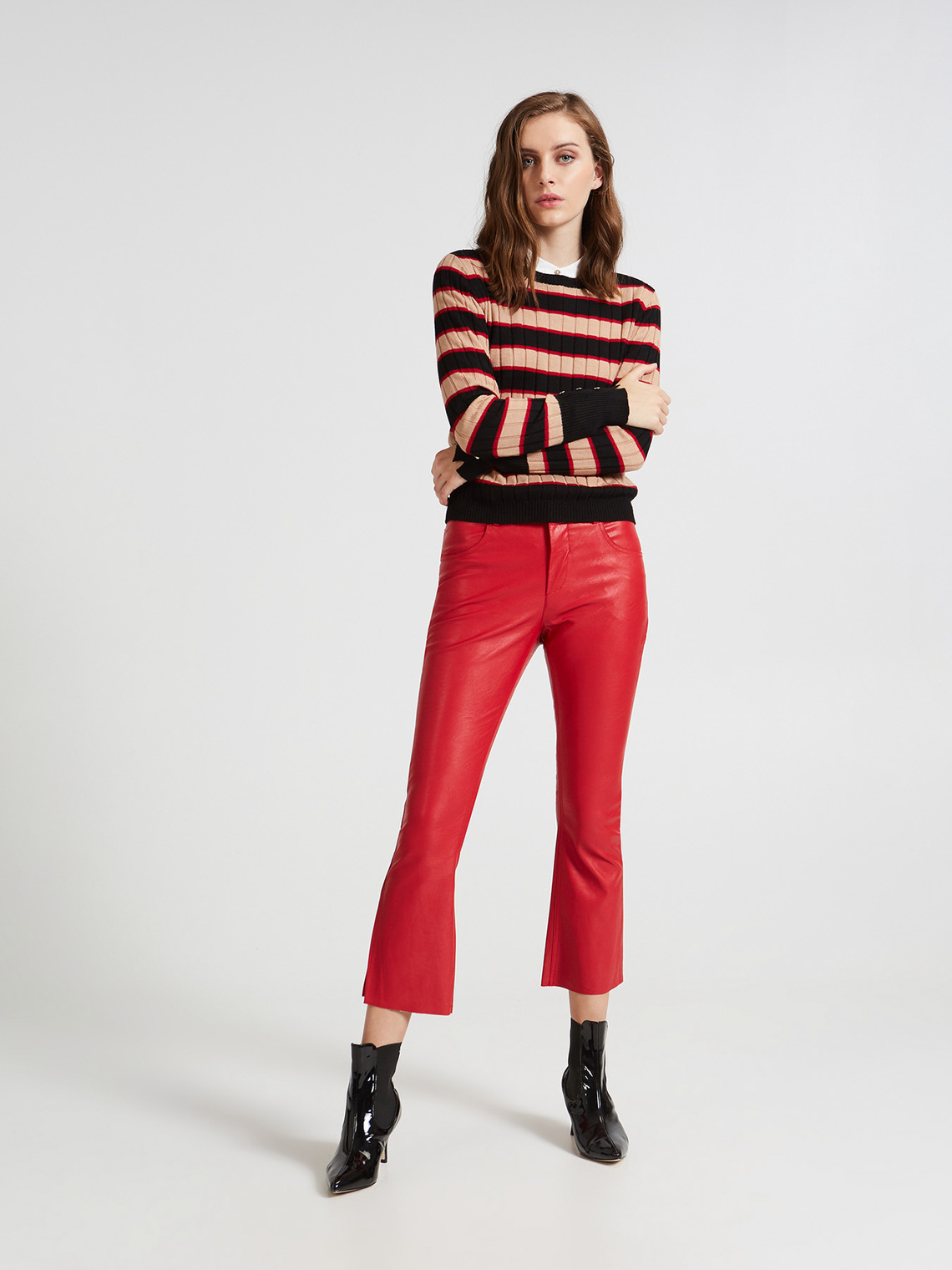 nouvelle collection magasiner pour le meilleur belle et charmante Pantalon effet cuir - Motivi.com - FR
