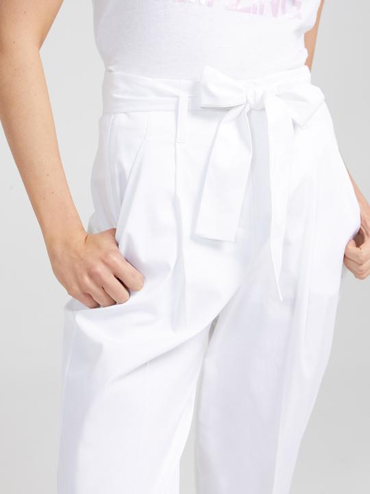 38663f30c080 Motivi  Pantaloni carrot con fusciacca Bianco 1 ...