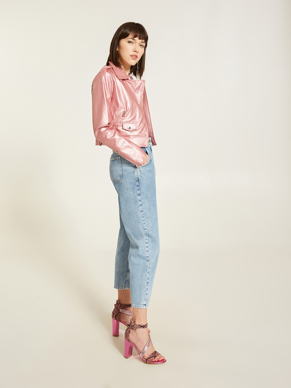 Motivi Jeans boyfit chiaro con alette Donna Blu