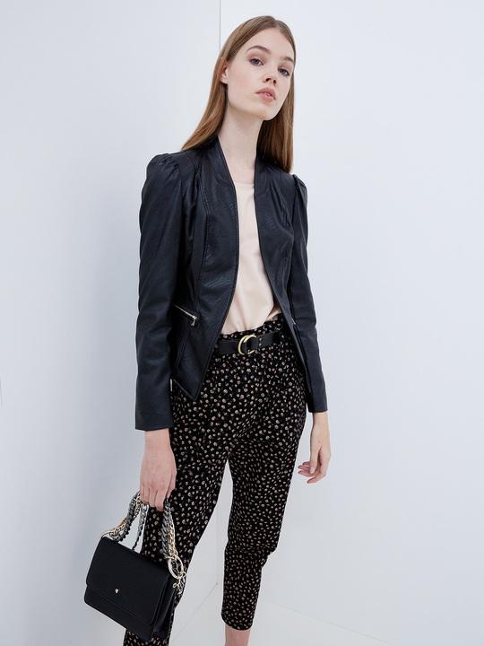 giacca pelle nera motivi