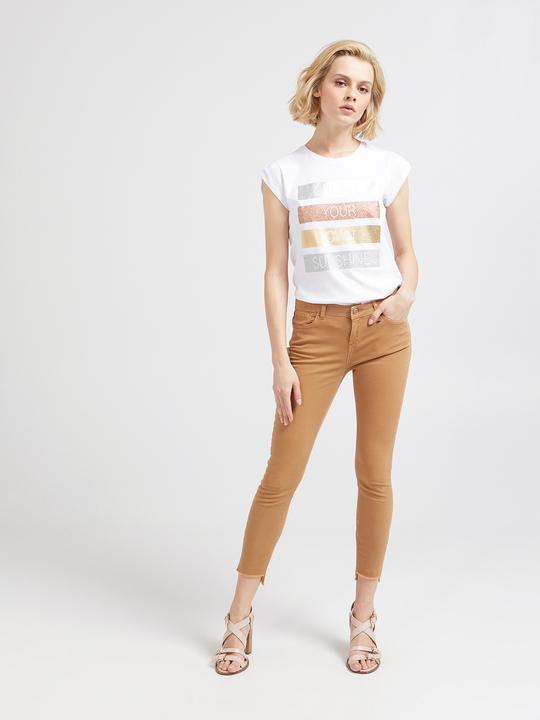 2cb27bd58189 Motivi  Pantaloni skinny denim colour Marrone 1 ...