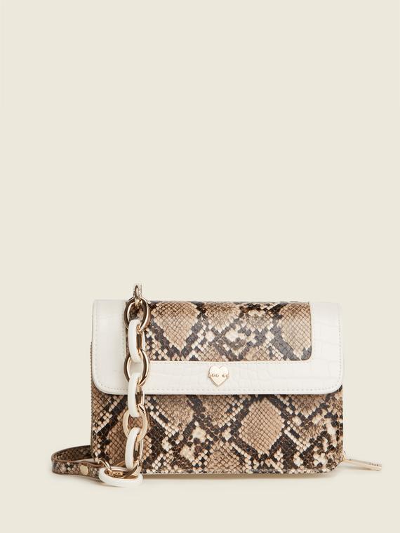 Motivi Mini bag bicolor scomponibile stampa pitone Donna Beige