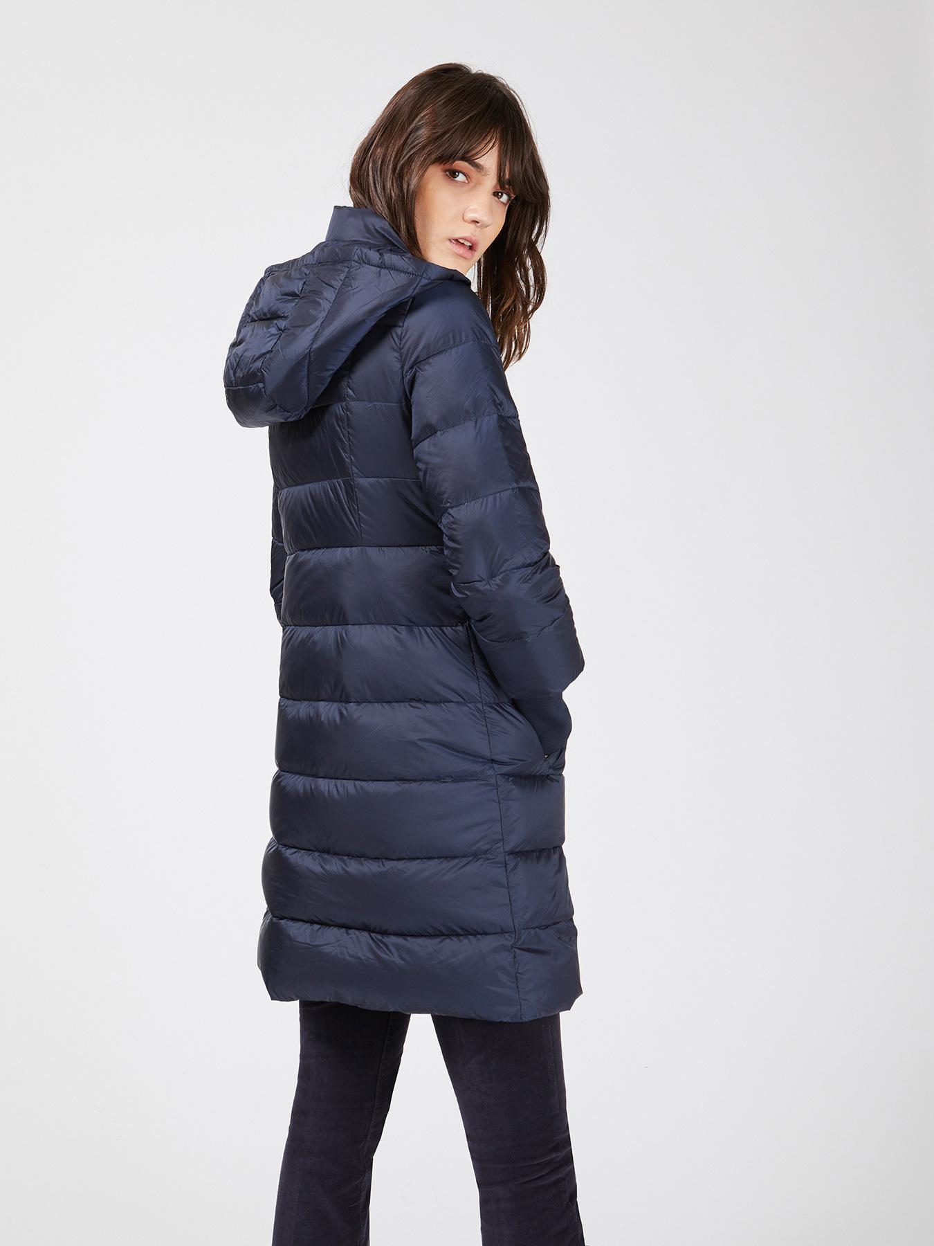 Flared down jacket with hood - Motivi.com - GB 7f70937220e6