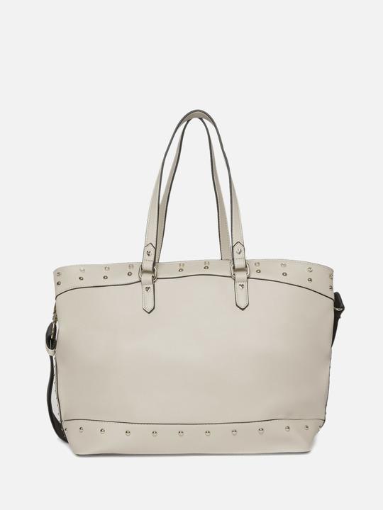 63f4a76cb8 Motivi: Shopping bag con borchie e castoni Beige_2 ...