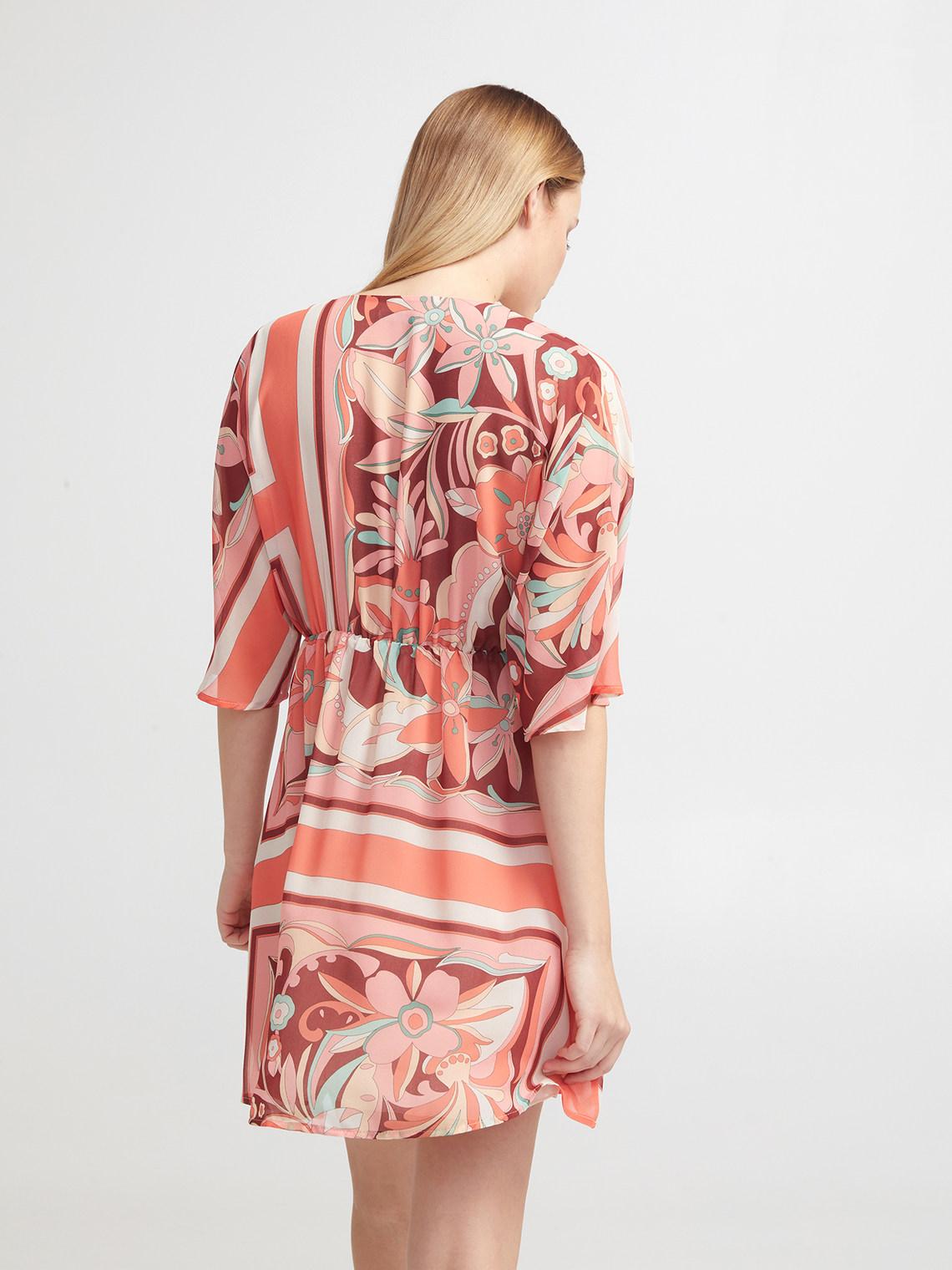 a basso prezzo 01413 24b68 Vestito a kimono in georgette - Motivi.com - FR