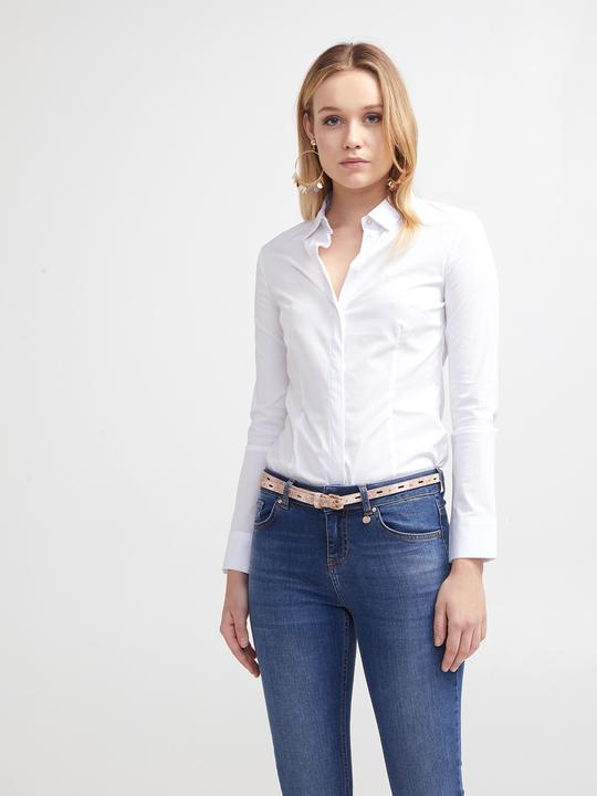 8c8f83d0541d Motivi  Camicia con bottone gioiello Bianco 1 ...