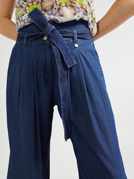 c32bd9aa2d0f Motivi  Pantaloni ampi in denim leggero Blu 1 ...
