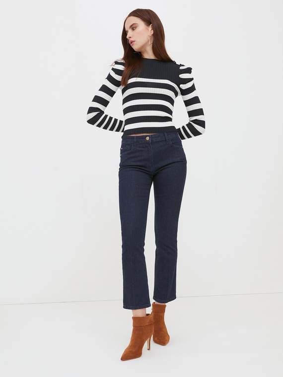 Motivi Jeans cropped blu Donna Blu