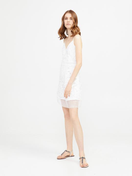 b201ddc168ce Motivi  Vestito in crochet Bianco 1 ...