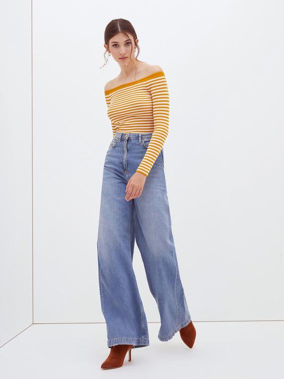 Motivi Jeans palazzo lavaggio chiaro Donna Blu