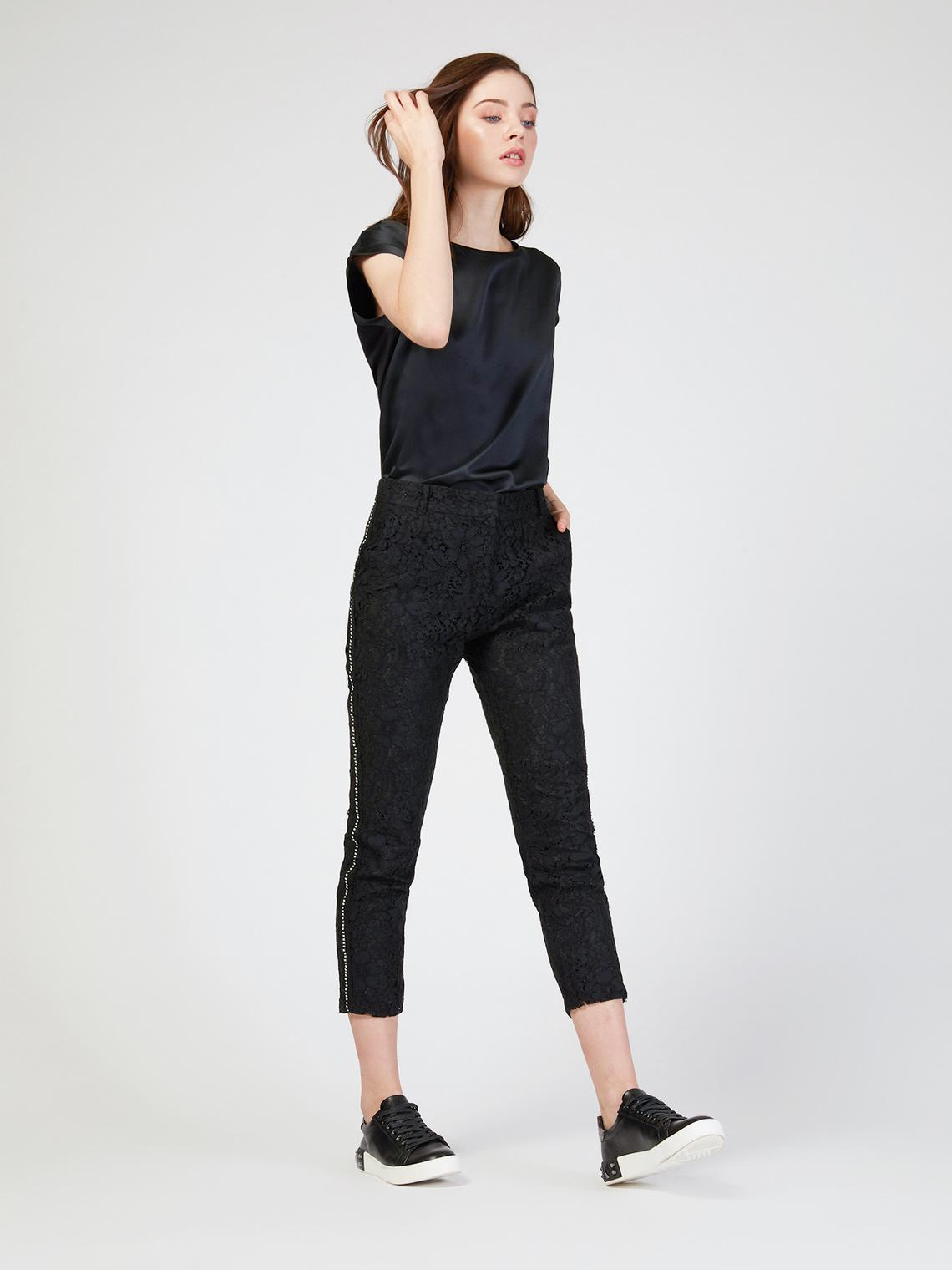 Pantaloni in pizzo con strass - Motivi.com ab9b24bc7e37