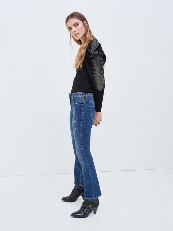 Motivi Jeans cropped modello Kaia Donna Blu
