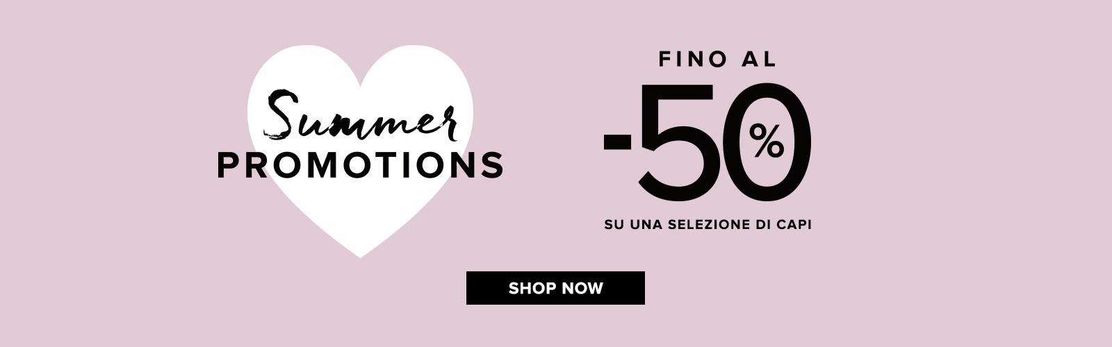 summer promotions fino al -50%