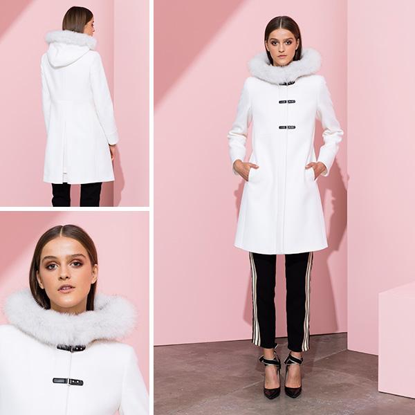 Cappotto in lana con maniche minimal-flare ff8f146575c1